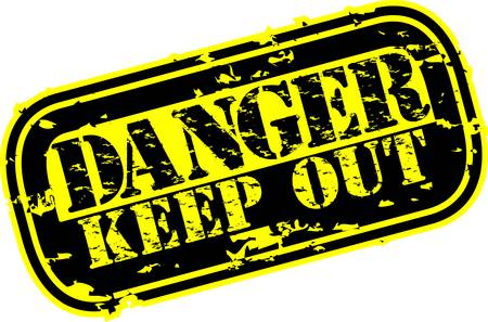 keep out: Grunge danger keep out rubber stamp, vector illustration