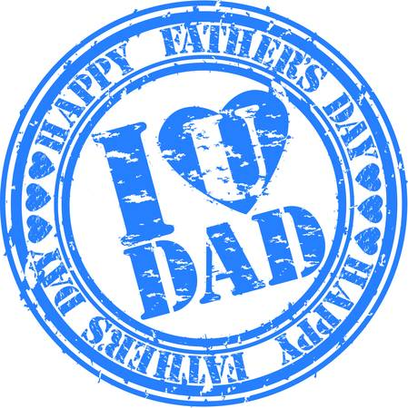 Grunge Happy father s day rubber stamp, vector illustration Stock Vector - 12486284