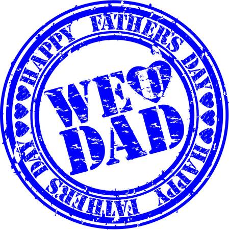 father s day: Grunge Happy father s day rubber stamp, vector illustration