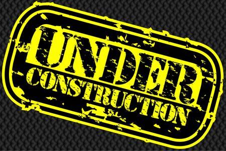 Grunge under construction rubber stamp, vector illustration Vector