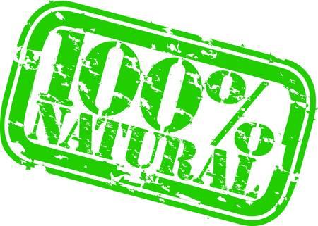 preservatives: Grunge 100 por ciento de sello de caucho natural, ilustraci�n vectorial Vectores