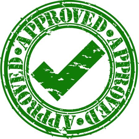 verified: Grunge approved rubber stamp, vector illustration
