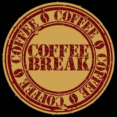 Grunge coffee break stamp, vector illustration Vector