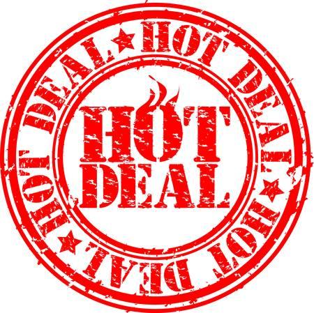 Grunge hot deal rubber stamp, vector illustration Vector