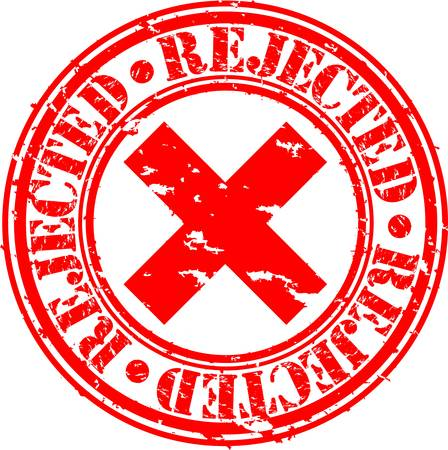 denied: Grunge rejected rubber stamp, vector illustration