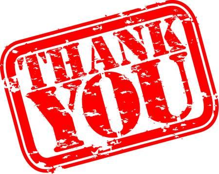 thankful: Grunge gracias sello de goma, ilustraci�n vectorial