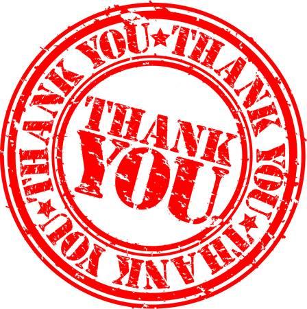 Grunge thank you rubber stamp, vector illustration  Illustration