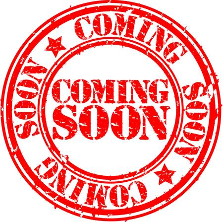 coming soon: Grunge coming soon rubber stamp, vector illustration  Illustration