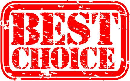 best choice: Grunge best choice rubber stamp, vector illustration