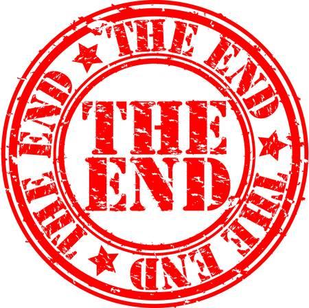 the end: Grunge das Ende Stempel, Vektor-Illustration