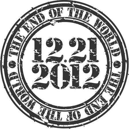 Grunge the end of the world 2012 rubber stamp, vector illustration Vector
