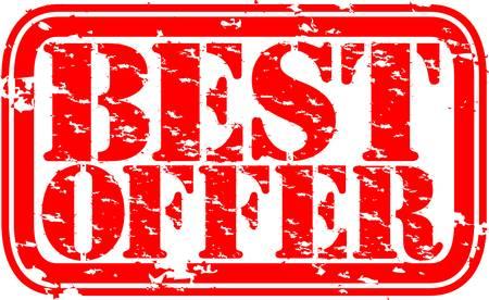 best products: Grunge best offer rubber stamp, vector illustration