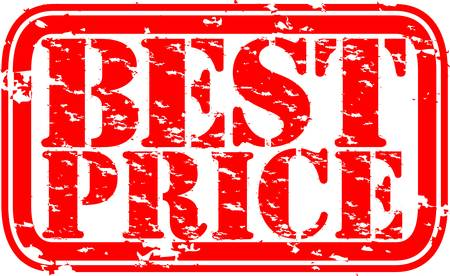 Grunge best price rubber stamp, vector illustration Vector