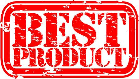 Grunge best product rubber stamp, vector illustration Vector