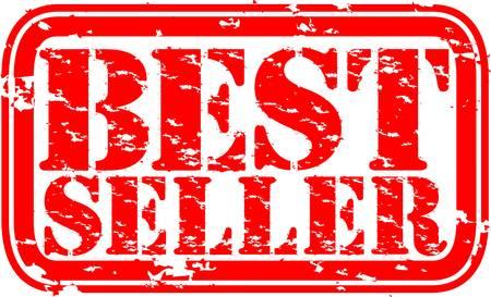 Grunge best seller rubber stamp, vector illustration Vector