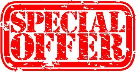 offerta speciale: Grunge speciale timbro di gomma offerta, illustrazione vettoriale