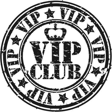 Grunge vip club rubber stamp, vector illustration Vector