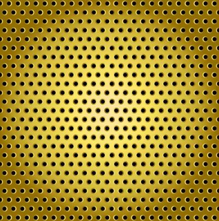 speaker grill: Abstract golden speaker grill, vector background Illustration