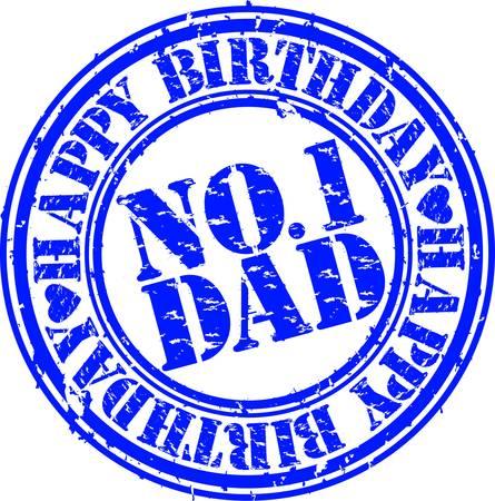 Grunge happy birthday dad, vector illustration  Vector