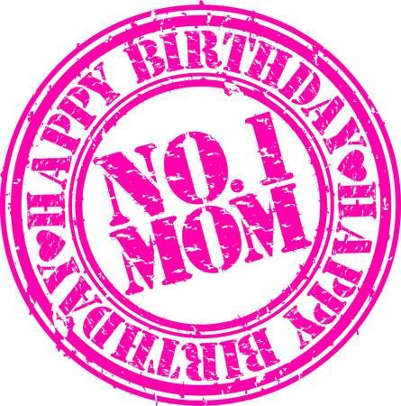 mums: Grunge madre feliz cumplea�os, ilustraci�n vectorial