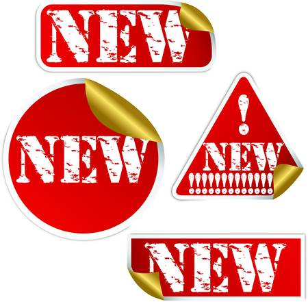 Grunge new sticker, vector illustration Vector