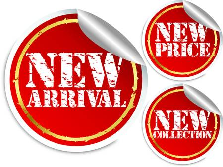 New arrival, new price and new collection stickers Stock Vector - 13640363