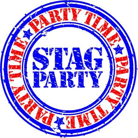 Ciervo Grunge partido sello de goma, ilustración vectorial Ilustración de vector