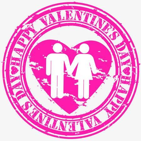 Grunge Happy Valentine s day rubber stamp, vector illustration Stock Vector - 14634686