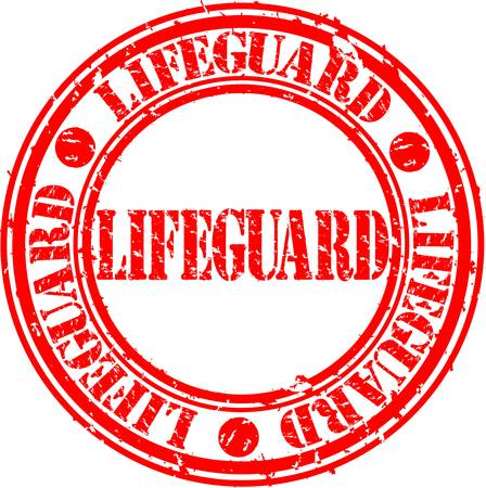 Grunge lifeguard rubber stamp, vector illustration  Stock Vector - 14634685