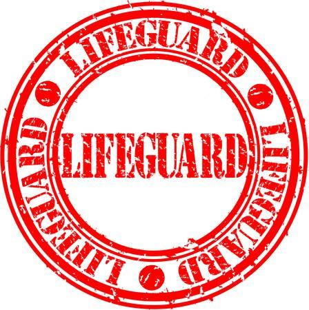 lifeguard: Grunge lifeguard rubber stamp, vector illustration  Illustration