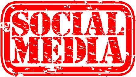 Grunge social media rubber stamp,vector illustration Stock Vector - 14634673