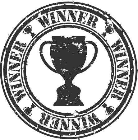 Grunge Gewinner Stempel, Vektor-Illustration