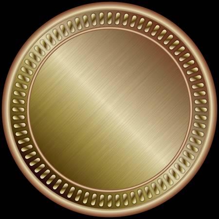 bronze medal: Bronze medal, illustration
