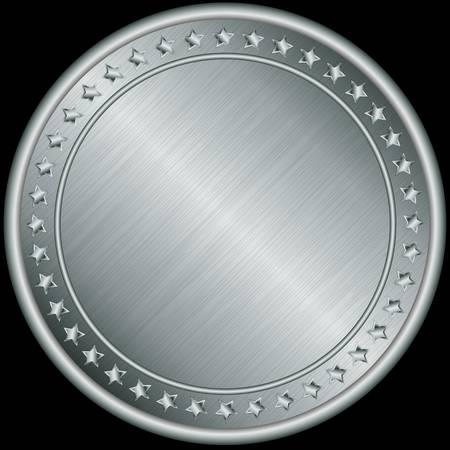 Zilveren medaille, vector illustration