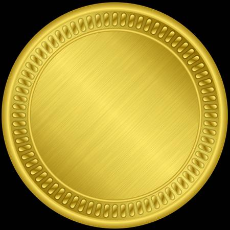 Golden medal, illustration  Vector