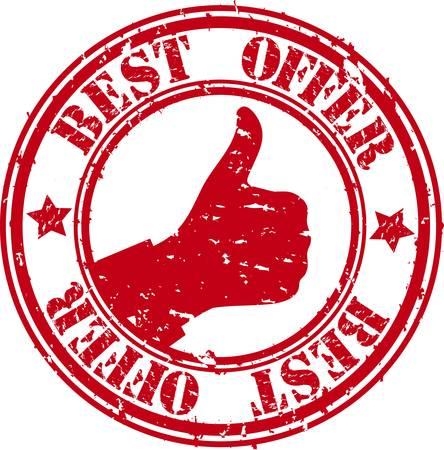 Grunge best offer rubber stamp, illustration  Vector
