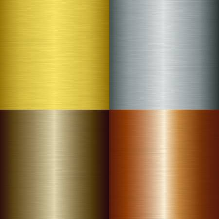 lamiera metallica: Metallo spazzolato set, illustrazione Vettoriali