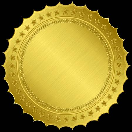 golden coins: Golden blank label, illustration  Illustration
