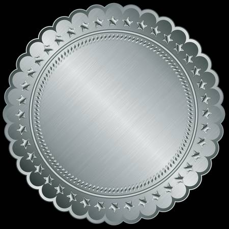 Silver blank label, illustration  Vector