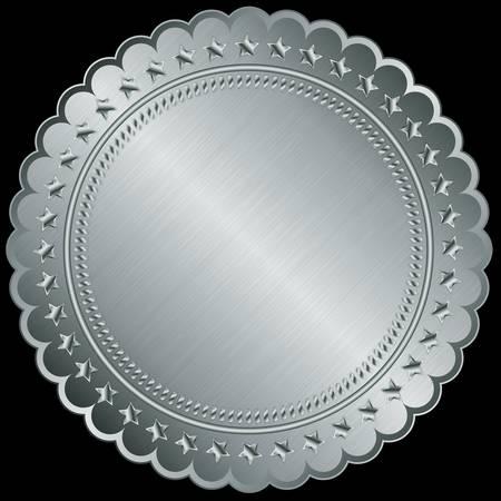 Silver blank label, illustration Stock Vector - 14969778