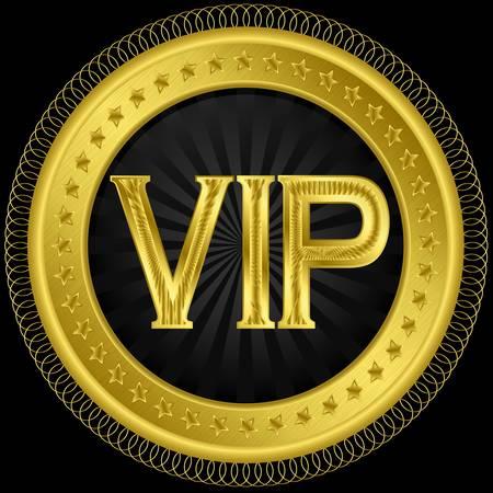 Vip golden label, illustration Vector