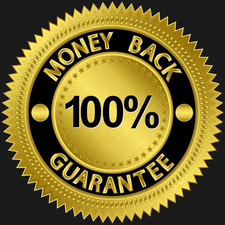 money back: 30 days money back guarantee golden sign illustration