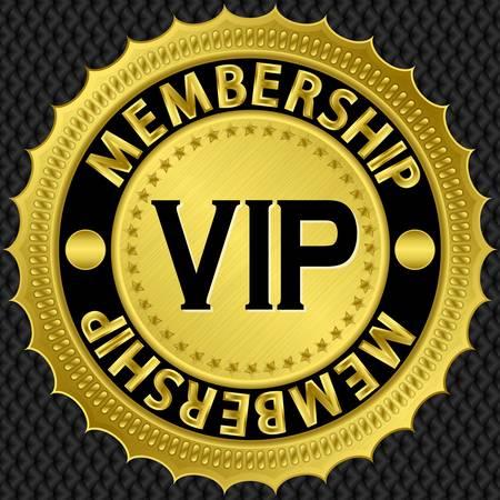 vip symbol: Vip oro etiqueta, ilustraci�n