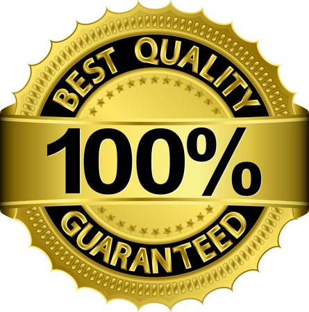 star quality: Best quality 100 percent guaranteed golden label Illustration