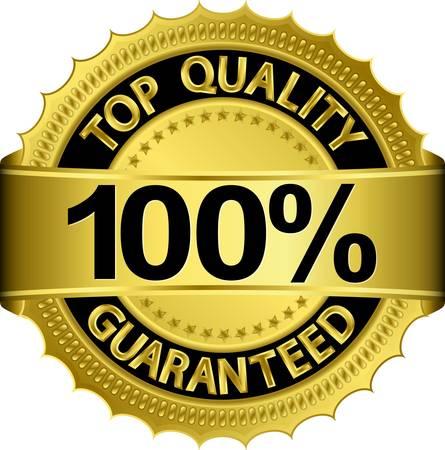 Top-Qualität aus 100 Prozent garantiert goldenen Etikett