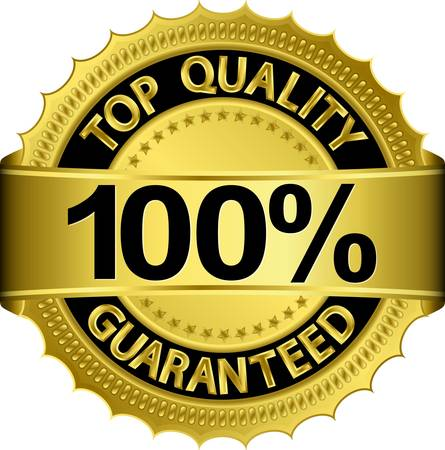 best products: Top quality 100 percent guaranteed golden label Illustration