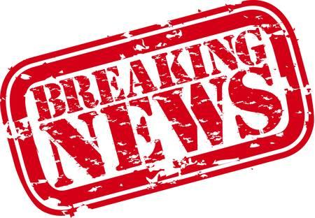 Grunge romper sello de goma noticias