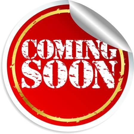 soon: Binnenkort sticker Stock Illustratie
