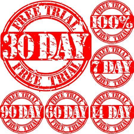 sello de goma: Grunge set de prueba gratuita sello de goma