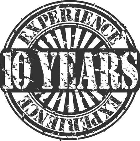 경험: 경험 고무 스탬프 그런 지 십년